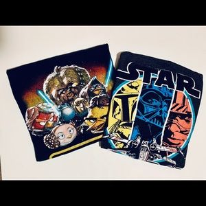 Bundle of 2 Star Wars tshirts size medium